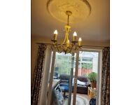 Antique look two ceiling hanging chandeliers