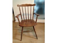 Pine farmhouse carver chair, used but good condition