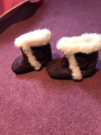 Brand new Jack and Lily baby boots 12 -18 mth