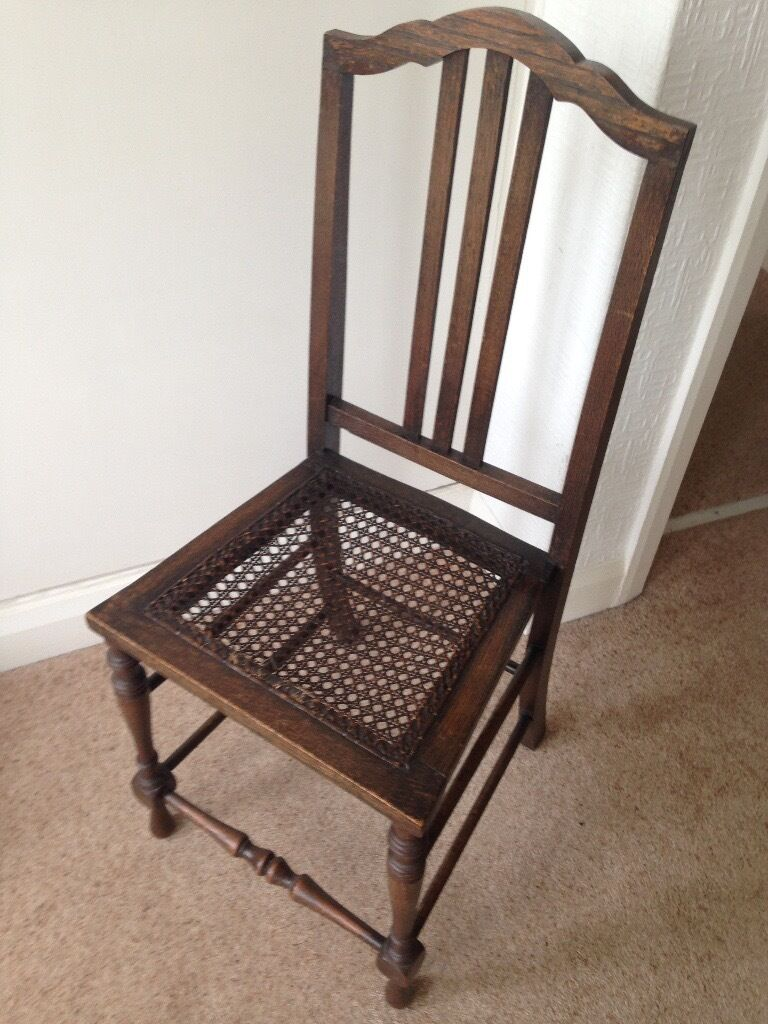 Old Fashioned Bedroom Chairs Vintage Bedroom Chair Woven Seat Needs Attention Otherwise Very