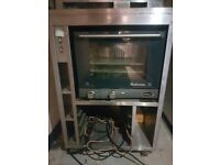 Hot food display cabinet and oven