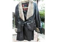 Leather skirt suit 1970s vintage