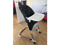 Mamas & Papas leather effect high chair