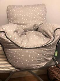 Small child's bean bag chair