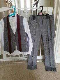 8 Years Old Boys 4 Piece Grey Suit from Next **ONLY WORN ONCE**