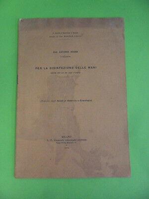 AGAZZI. PER LA DISINFEZIONE DELLE MANI. L.F. COGLIATI 1914