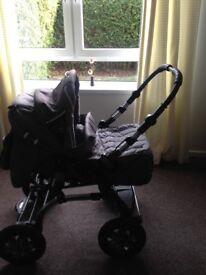 Pram/pushchair Baby Merc S6 with car seat