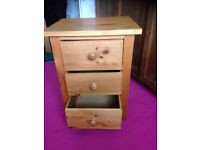 For sale are these matching solid pine bedside cabinets