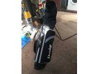Dunlop right handed golf clubs and bag