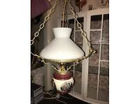 Beautiful vintage pre 1800's chandelier glass lamp light