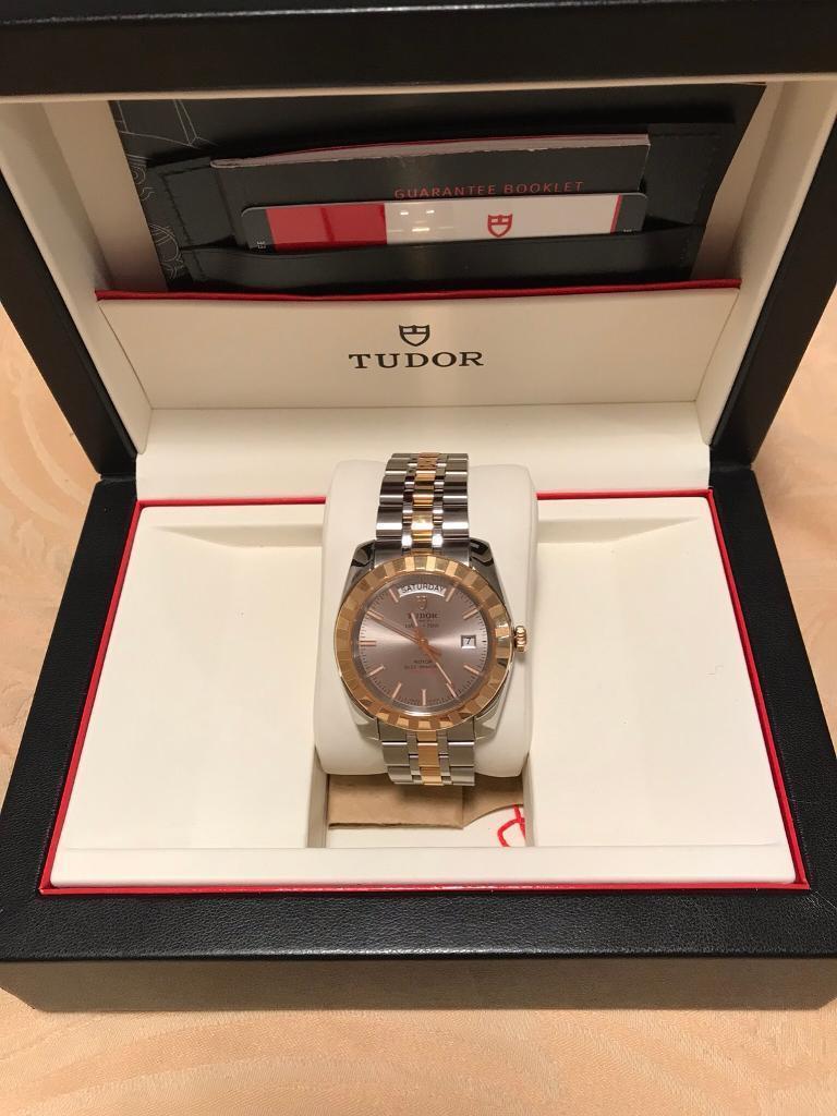 Men's Tudor Date Day 18ct Gold Watch 2016