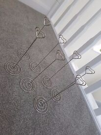 Heart Metal Table Stands x7