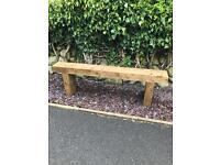 Garden Seat Bench Railway Sleeper. Brand New. Handmade
