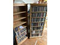 Solid oak 100 % oak cd cabinets for sale  Lakenheath, Suffolk