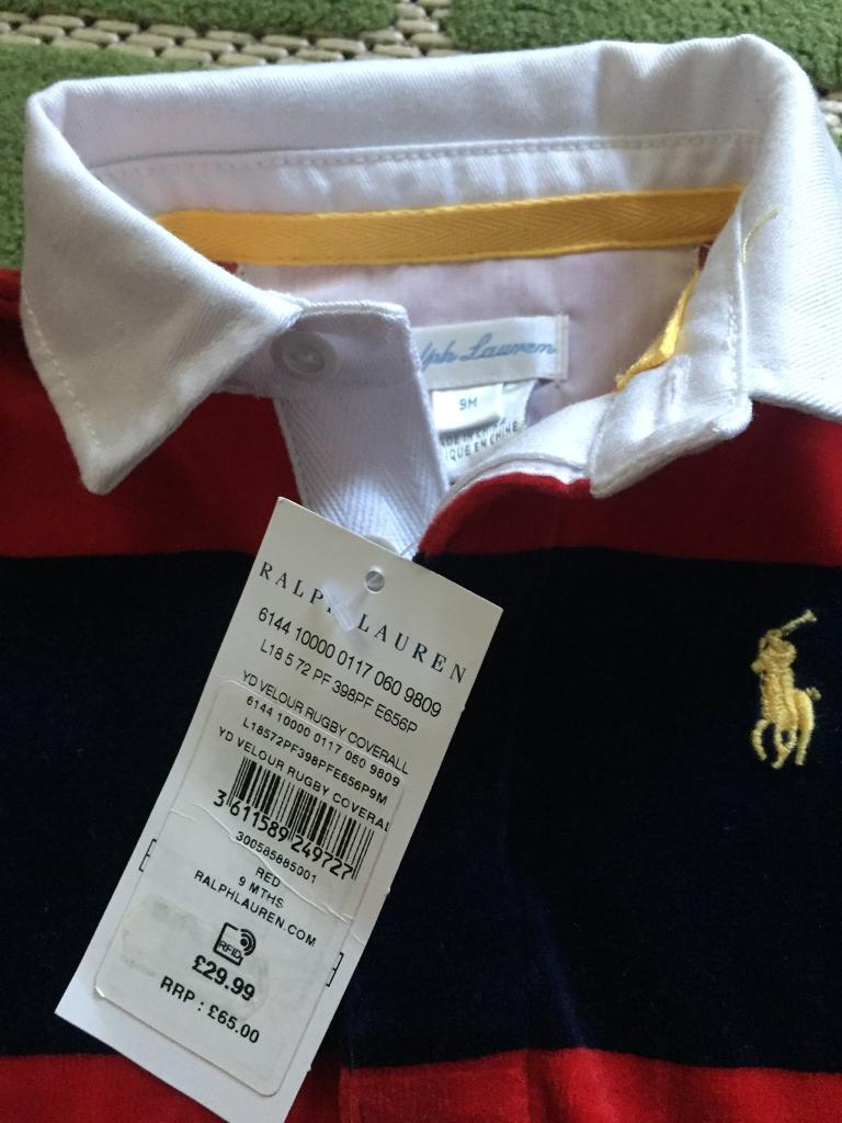Baby polo sleepsuits 9 months