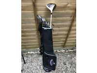 Full set of Titleist irons and sky max driver