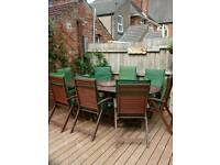 8 seater wooden patio furniture