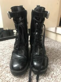 All Saints lace up boots 4.5 will fit size 5 also