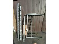 Grey metal Double Bed Frame