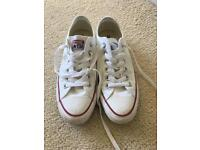White Converse Size UK5