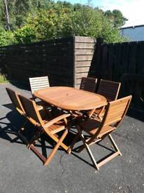 FSC wooden outdoor table set