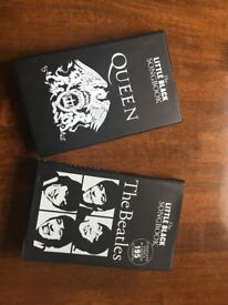 Beatles and Queen, little black songbook, as new.