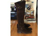 MINKA Design high brown Suede boots - Size EU 39 / UK 6