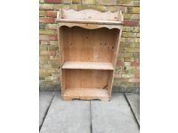 Vintage pine wooden dresser shelf wall unit