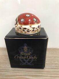 Royal Crown Derby Ladybird Paperweight