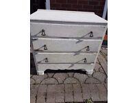 Shabby chic chest drawer