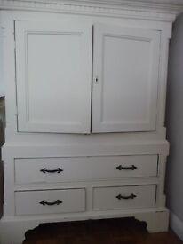 Antique heavy wooden cabinet