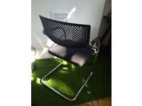 Designer Vitra Visavis chair in chrome