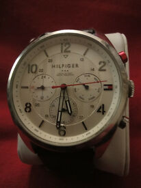 Tommy Hilfiger TH 281 114 1930 Watch CHRONO brown leather strap