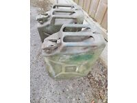 Jerry cans 5 galls, ex WD