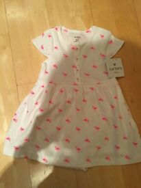 2 brand new Carter's baby girl dress 9-12