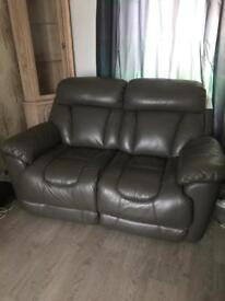 Electric leather recliner 2 seater