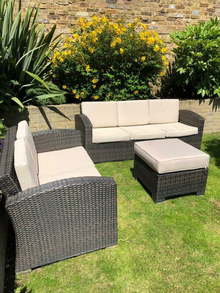Rattan garden furniture set and cushions for sale | in ...