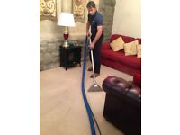 Carpet and upholstery steam cleaning.