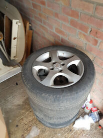 4x Suzuki swift 15'' alloy wheels and tyres