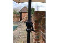 Garden cast iron parasol