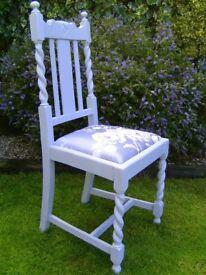 Vintage wooden bedroom chair