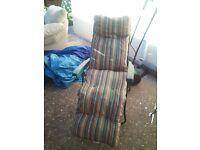 folding garden chair, in green colour,