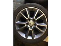 Vauxhall 17s alloy wheels