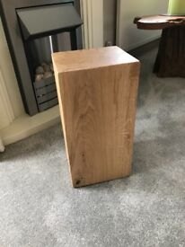 Solid oak lamp stand/side table