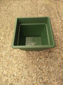 New Green Plastic 38cm Square Bell Pots (4 Available)