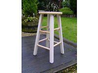 Wooden bar stool in cream