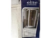 760mm frameless pivot shower door