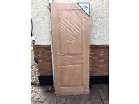 Oak hardwood door
