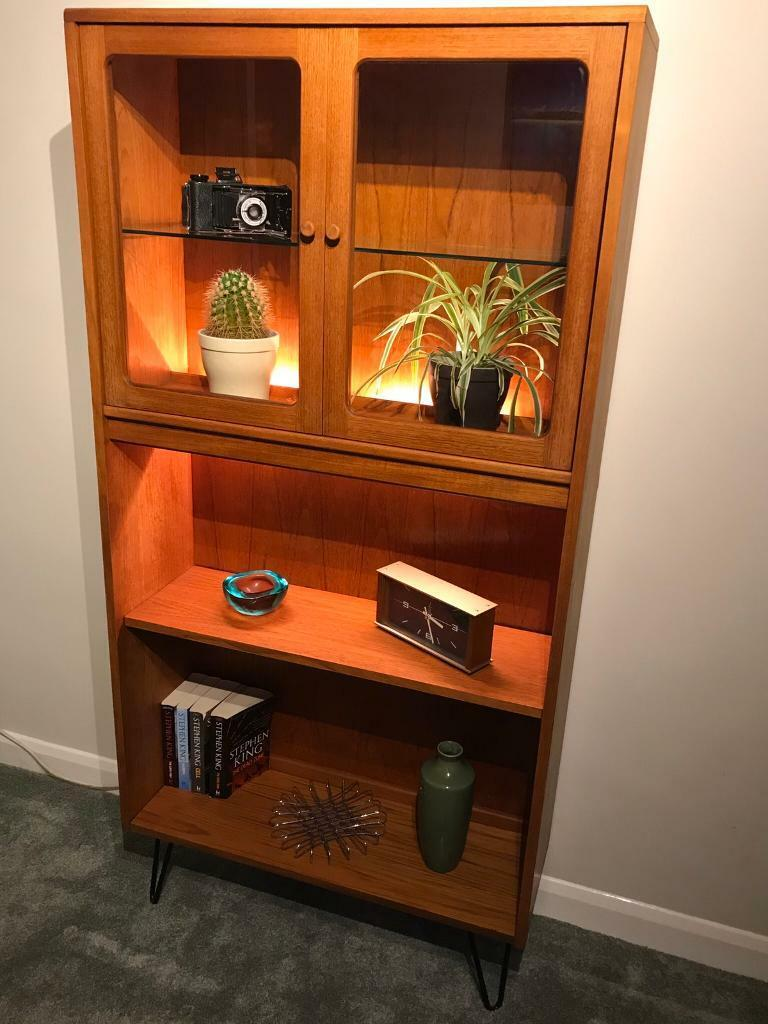 Retro Vintage Mid Century Modern G Plan Display Cabinet Bookcase Very Good Condition In Burbage Leicestershire Gumtree