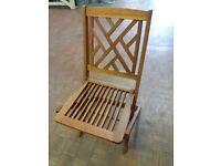 Hardwood folding garden chairs